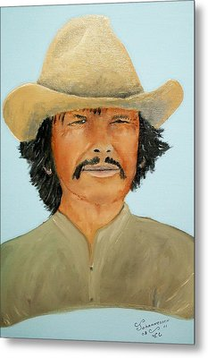 Metal Print featuring the painting Charlie Boy by Al  Johannessen