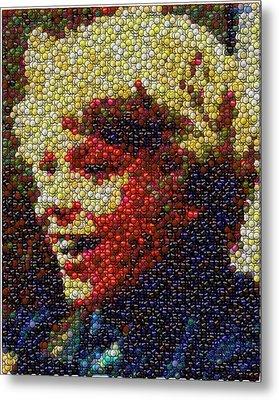 Charlie Buckets Fizzy Lifting Drinks  Bottle Cap Mosaic Metal Print by Paul Van Scott