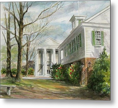 Metal Print featuring the painting Cheraw Town Hall by Gloria Turner