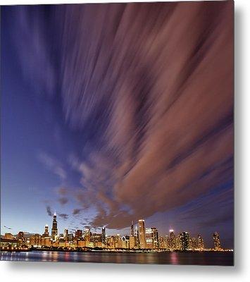 Chicago Evening 3 Metal Print by Donald Schwartz
