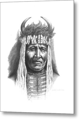 Chief Big Face Metal Print by Lee Updike