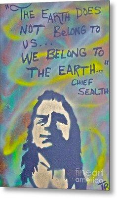 Chief Sealth Metal Print by Tony B Conscious