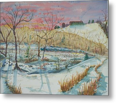 Chilly Morning Metal Print by Barbara McGeachen