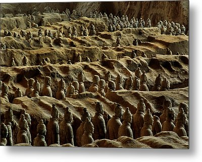 Chinas Great Terracotta Army Is Seen Metal Print