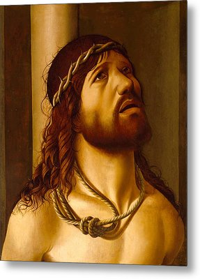 Christ At The Column Metal Print by Antonio de Saliba