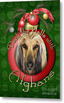 Christmas - Deck The Halls With Afghans Metal Print by Renae Laughner