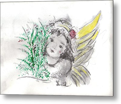 Christmas Angel Metal Print by Laurie L