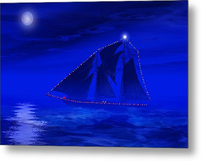 Christmas At Sea Metal Print by Carol and Mike Werner