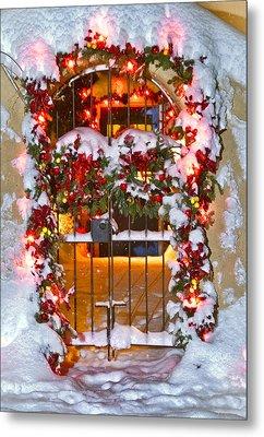 Christmas Gate Metal Print