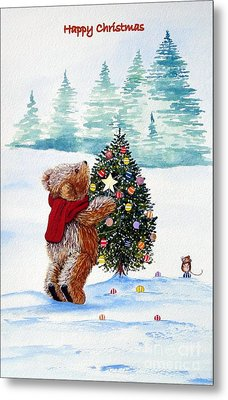 Christmas Star Metal Print by Gordon Lavender