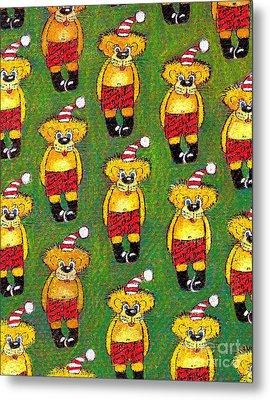 Christmas Teddy Bears Metal Print by Genevieve Esson