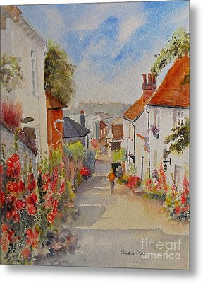 Metal Print featuring the painting Church Hill - Hythe- Uk by Beatrice Cloake