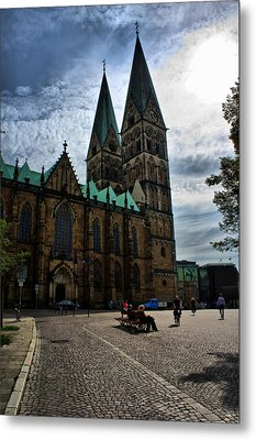 Church In Bremen Germany 2 Metal Print by Edward Myers