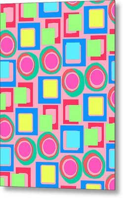 Circles And Squares Metal Print by Louisa Knight