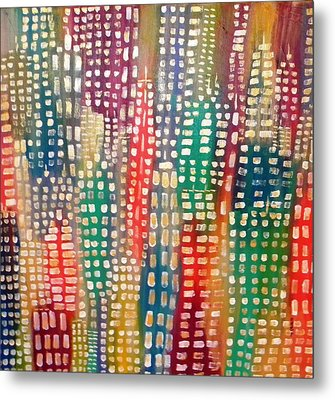 City Lights II Metal Print