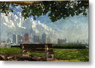 Citybench Metal Print by Andrea Barbieri