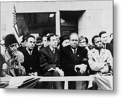 Civil Rights Leaders In Nyc. L To R Metal Print