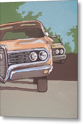 Classic Cars Metal Print by Sandy Tracey