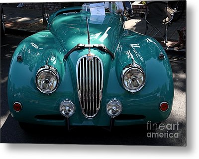 Classic Green Jaguar . 40d9411 Metal Print by Wingsdomain Art and Photography