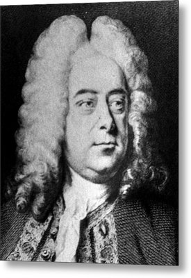 Classical Composer George Frideric Metal Print by Everett