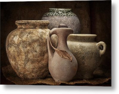 Clay Pottery I Metal Print