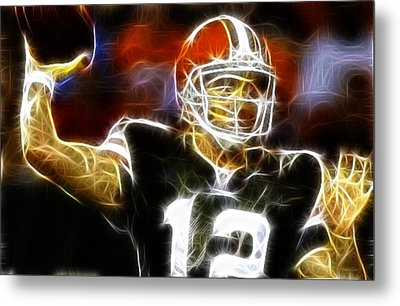 Cleveland Browns Colt Mccoy Metal Print by Paul Van Scott