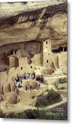 Cliff Palace Kiva Mesa Verde Metal Print by John  Mitchell