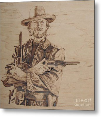 Clint Eastwood Metal Print by Chris Wulff