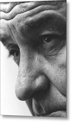 Close Up Of President Lyndon Johnson Metal Print by Everett