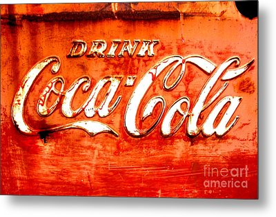 Metal Print featuring the photograph Coca Cola by Amy Sorrell