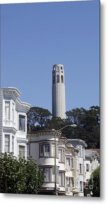 Metal Print featuring the photograph Coit Tower by Denise Pohl