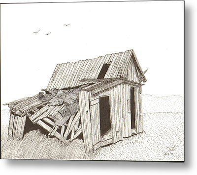 Collapsed Metal Print by Pat Price