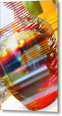Colored Vase At The Mayo Clinic Metal Print by Laura  Grisham