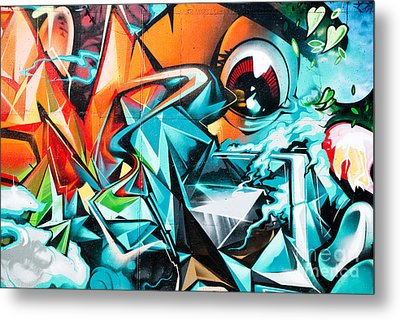 Colorful Graffiti Fragment Metal Print