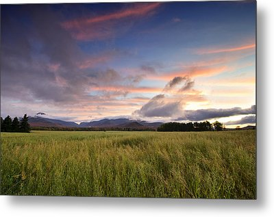 Colorful Sunset Over The High Peaks Wilderness In Adirondack Park - New York Metal Print by Brendan Reals