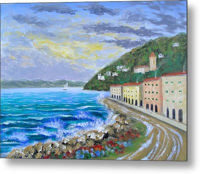 Colors Of The Riviera Metal Print by Larry Cirigliano