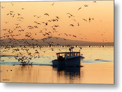 Coming Home With Take Out Metal Print by Michelle Wiarda