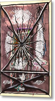 Composition Seven Metal Print by Al Goldfarb