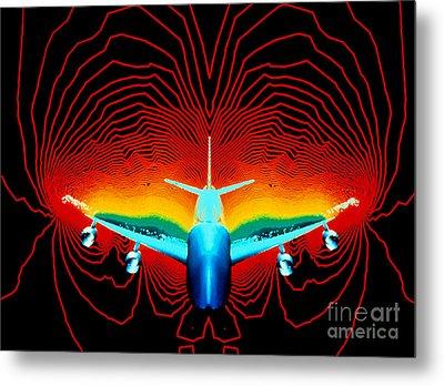 Computer Simulation Of Airplane Flight Metal Print by Nasa