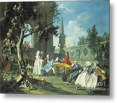 Concert In A Garden Metal Print by Filippo Falciatore