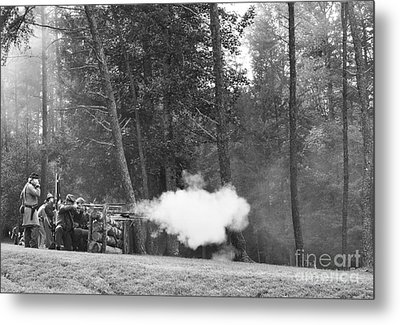 Confederate Breastworks Carnifax Ferry Metal Print by Thomas R Fletcher