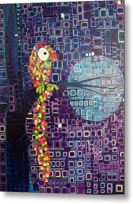 Confetti Bird Metal Print by Donna Howard