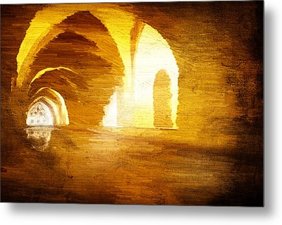 Metal Print featuring the digital art Convento by Andrea Barbieri
