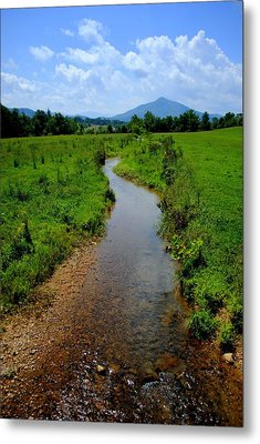 Cool Mountain Stream Metal Print by Frozen in Time Fine Art Photography