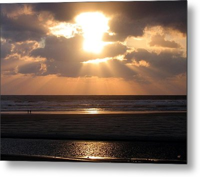 Copper Sunset Stroll Metal Print by Will Borden