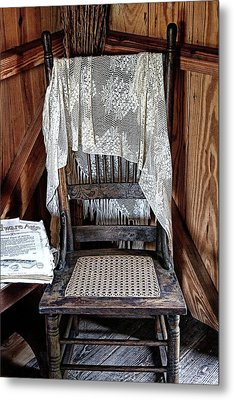 Corner Chair Metal Print by Nancie Rowan