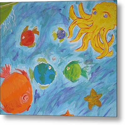 Metal Print featuring the painting Cosmic Ocean by Yshua The Painter