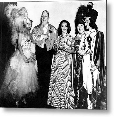 Costume Party At San Simeon. Irene Metal Print by Everett