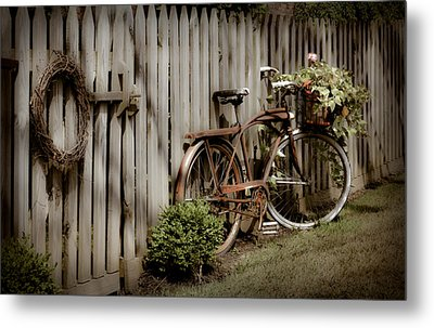 Metal Print featuring the photograph Country Bike by Michelle Joseph-Long