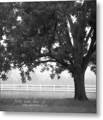 Country Fence Metal Print by Mary Hershberger